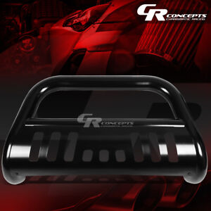Black 3 Front Bull Bar Grille Grill Guard For 15 17 Chevy Gmc Colorado Canyon