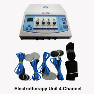 Portable Electric Stimulator 4channel Electrotherapy Physiotherapy Machine kv