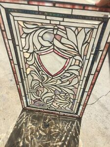 Art Deco Beveled And Zippered Stained Glass Window