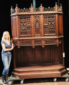 Carved Monumental Cabinet