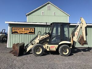 02 Ingersoll Rand Bl470 4x4 Loader Backhoe Enclosed Cab Aws Low Cost Shipping
