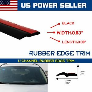 50feet Car Auto A Pillar Door Protector Rubber Sealing Edge Trim Strip Durable