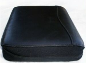 Franklin Covey Black Vintage Planner Spacemate Nappa Leather