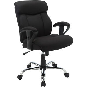 Serta Mesh Fabric Big And Tall Manager Office Chair Black