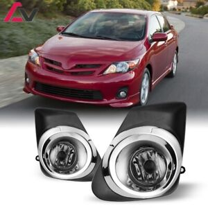 For Toyota Corolla 11 13 Clear Lens Pair Oe Fog Light Lamp Wiring Switch Kit