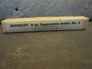 Kingsley 6pt Copperplate Gothic 3 For Hot Foil Stamping Machine