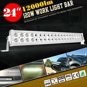 18inch 126w Led Work Light Bar 4x 4 18w Offroad Driving Lamp Spot Flood Combo