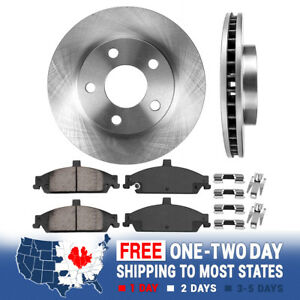 Front Brake Rotors Ceramic Pads For Chevy Malibu Pontiac Grand Am Alero Cutlass