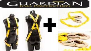 Safety Fall Protection Kit Full Body Harness With Safety Cord Free Shipping