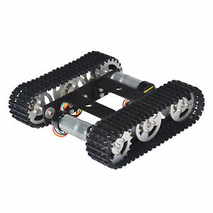 Black Tracked Robot Smart Car Platform For Arduino Diy Dual Dc 9v Motor