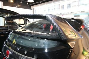Real Carbon Fiber Rear Spoiler With Base Fit For Honda 2010 Civic Euro r Fn2