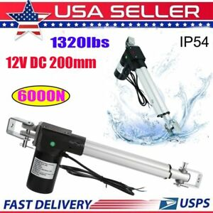 6000n Linear Actuator 12v Dc 200mm Electric Door Opener With Mounting Bracket Oy