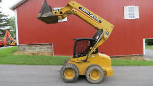 Very Clean 2003 John Deere 250 Series Ii Skid Steer Loader Only 537 Hours 64 Hp