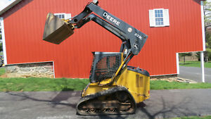 2012 John Deere 323d Compact Track Skid Steer Loader Cab Heat A c 2 Speed