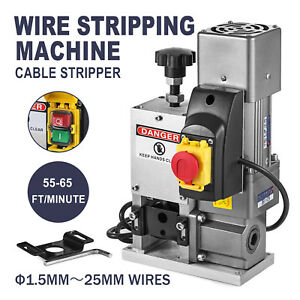 Electric Wire Stripping Machine Powered Comercial Metal Recycle Tool Automatic