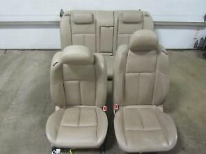 07 08 Nissan Maxima Set Tan Netural Leather Seats Front Buckets Rear Bench Back