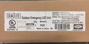 Hubbell Lighting Dual Lite Outdoor Emergency Led Unit Model Pgp