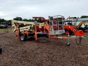 2011 Jlg T350 Tow Behind Man Lift 35 Ft Towable Articulating Boom Lift