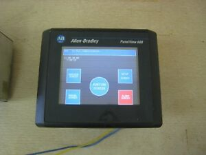 Allen Bradley Panelview 600 2711 t6c1l1 Color Touch Screen Operator Terminal