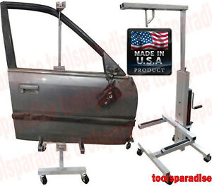 Auto Body Aluminum Door Hanger Bumper Painting Stand Dolly Adjustable Height