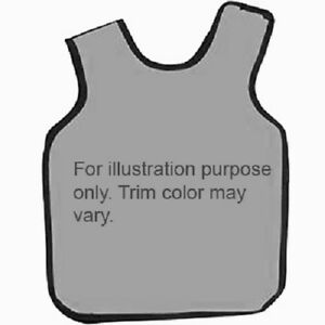 Adult Dual X ray Apron Grey Vinyl With Grey Binding 22 1 2 X 26 1 2 0 3mm