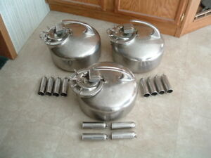 3 Surge Stainless Steel Milker Buckets W Cups Lid Pulsator Milk Can Milking Ss