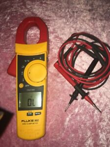 Fluke 902 Fc True Rms Ac Hvac Clamp Meter Multimeter Lighted Display