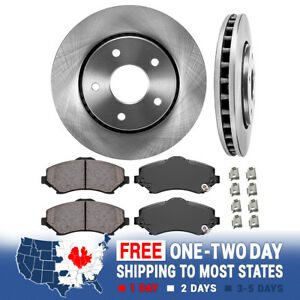 Front Rotors Ceramic Pads For 2009 2012 2013 Town Country Grand Caravan Journey