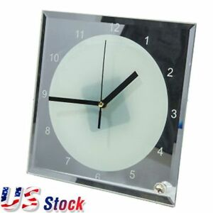Us Stock 20pcs Lot 7 8 X 7 8 Sublimation Blank Glass Photo Frame With Clock
