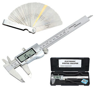 Digital Vernier Caliper feeler Gauge 6 stainless Steel Electronic Measuring Tool