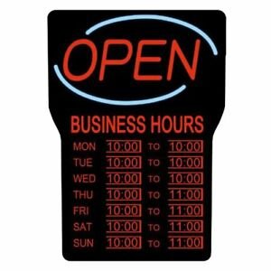 Royal Sovereign International Rsb 1342e Led Open Sign W Business Hours