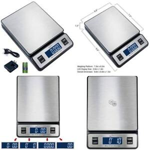 Weighmax 90 Lb X 0 1 Oz Durable Stainless Steel Digital Postal Scale Ac Adapter