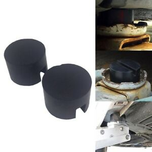 Rubber Pad With Slots For Hydraulic Ramp Jack Jacking Pad Adapter Trolley Us