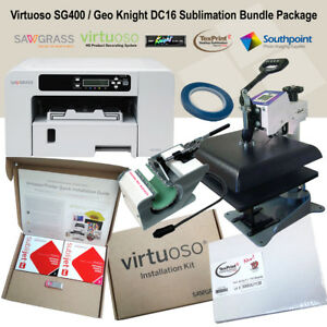 Sawgrass Virtuoso Sg400 Printer Geo Knight Dc16 Dc Mug Heat Press Bundle Pack