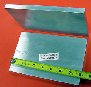 8 Pieces 5 8 X 6 Aluminum 6061 Rectangle Bar 8 Long Solid T6511 Mill Stock