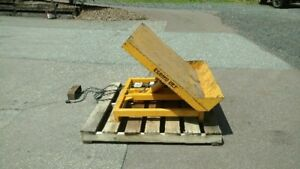 Econo Lift Hydraulic Tilt table 4 000 Lb Capacity Material Handling