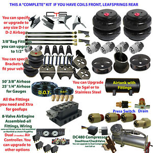 Air Suspension Kit Complete U Have Coils Front Leafspring Rear Heavy Duty 4 Link