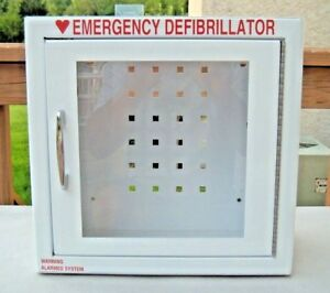 Zoll Aed Defibrillator Storage Cabinet wall Mount With Alarm