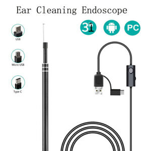 3 in 1 Usb Ear Cleaning Endoscope Hd Visual Ear Spoon With Mini Camera 3 9 5 5mm