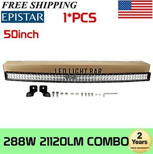 240w 42 Inch Curvedled Offroad Light Bar Truck Boat Atv Gmc Forklift Jeep 40