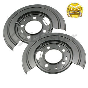 New Rear Brake Dust Shield Backing Plates Pair Fits Ford F250 F350 Excursion