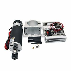Cnc Router 600w Air Cooling Spindle Motor Adjustable Pwm Driver Speed Controller