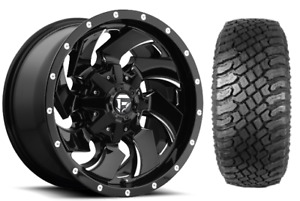 22x10 D574 Fuel Cleaver Wheel And Tire Package 33 Xt 5x5 Jeep Wrangler Jl Jk