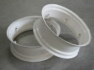 2 New Wheel Rims 10x28 6 loop Fit Massey Harris Colt 21 50 101 102 Jr 10 28