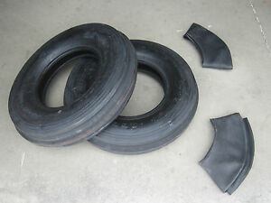 2 New 7 50 16 3 Rib Front Tires Innertubes International Farmall 564 Case 585