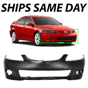 New Primered Front Bumper Cover Replacement For 2006 2008 Mazda 6 06 08