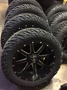 22x12 Fuel Maverick D538 Black Wheel Tire Package 33 Mt 6x135 Ford F150 6 Lug