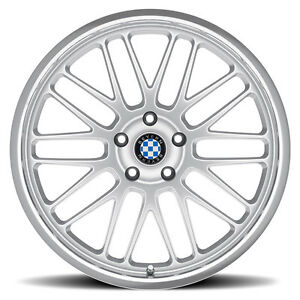 17 Silver Beyern Mesh Wheels Rims 5x120 Bmw 3 Series E36 E46 E90 E92 335 328