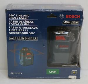 New Bosch Gll 2 20 S 360 Degree Line And Cross Laser Level