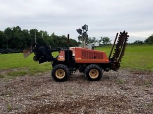 Ditch Witch 410sx 4x4 Walk Behind Trencher Cable Plow Caterpillar Diesel